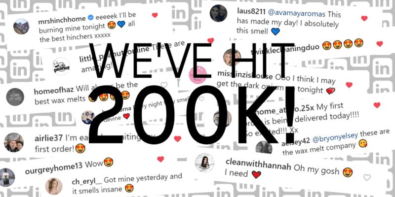 We've 200k Followers on Instagram